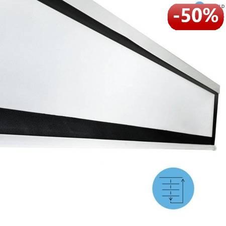 4World Elektryczny Ścienny/Sufitowy Ekran Projekcyjny z Pilotem 159x90 (16:9) Matt White
