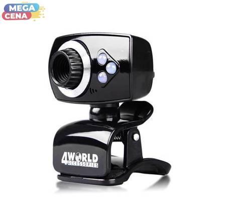 4World Kamera USB z mikrofonem 2Mpx Manualna