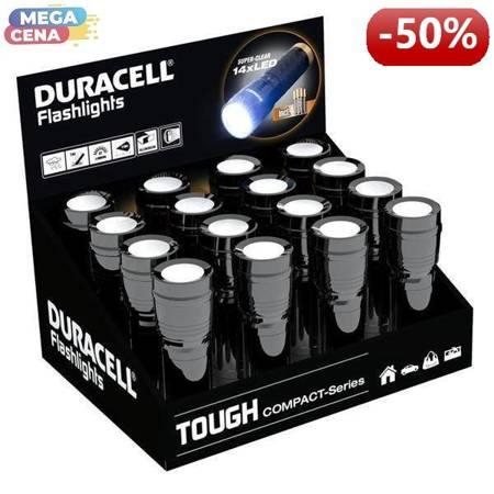 Duracell Latarka TOUGH COMPACT wodoodporna 3xAAA 9h 60lm 24m display 16 szt