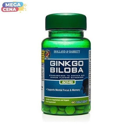 Ginkgo Biloba 60 mg 60 Tabletek