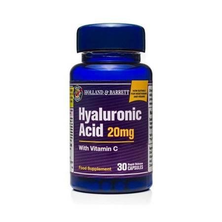 Kwas Hialuronowy z Witaminą C 20 mg 30 Kapsułek