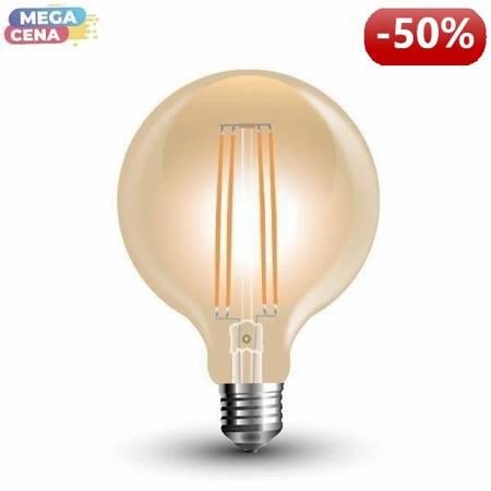 V-TAC Żarówka LED VT-2027 E27 95x140mm 7Wat 2200K 700lm Filament Glass A+ 300stopni