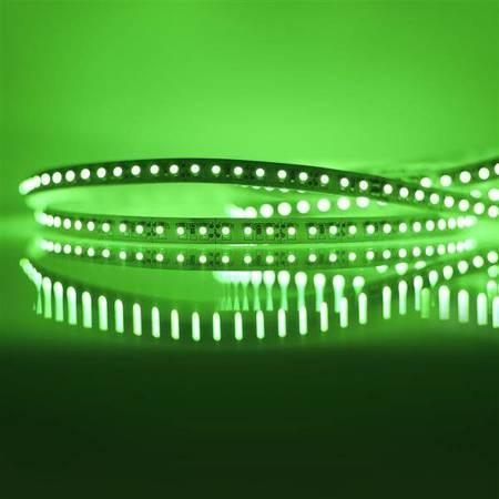 Whitenergy Taśma LED 5m 120szt/m SMD3528 9.6W/m 12V IP20 8mm zielona bez konektora