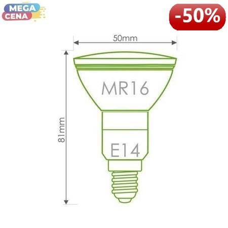 Whitenergy Żarówka LED 2.5W  E14 MR16 SMD3528 ciepła 230V Halogen / szybka