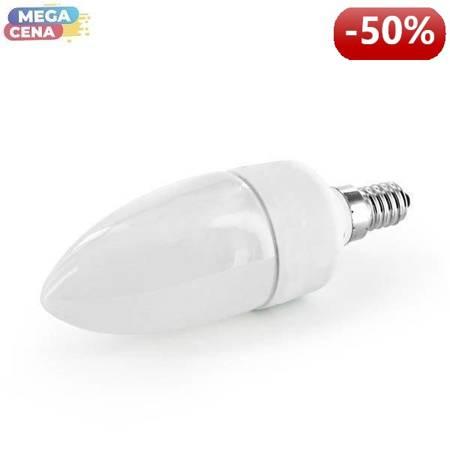 Whitenergy Żarówka LED 2W  E14 C35 SMD3528 ciepła 230V Świeczka / mleczne