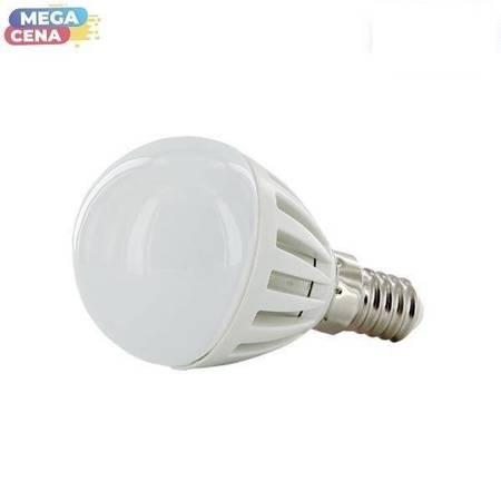 Whitenergy Żarówka LED 2W  E14 G45 SMD3014 ciepła 230V Kula / mleczne