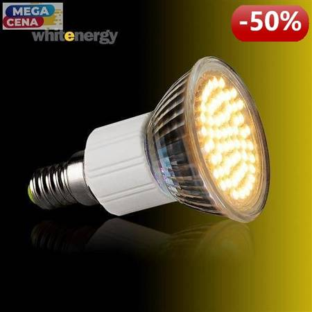 Whitenergy Żarówka LED 3W  E14 MR16 SMD3528 ciepła 230V Halogen / szybka