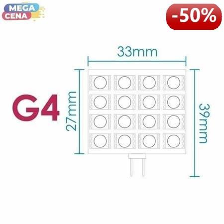 Whitenergy Żarówka LED 3W  G4 G4 SMD5050 zimna 12V/ bez szybki