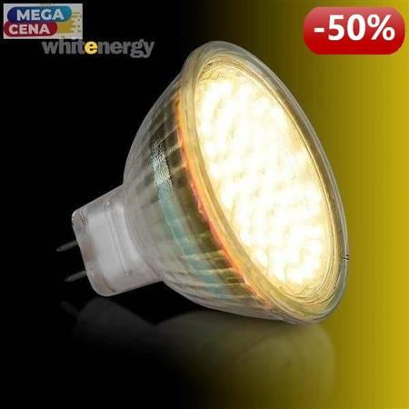 Whitenergy Żarówka LED 3W  GU5.3 MR16 SMD3528 ciepła 12V Halogen / szybka
