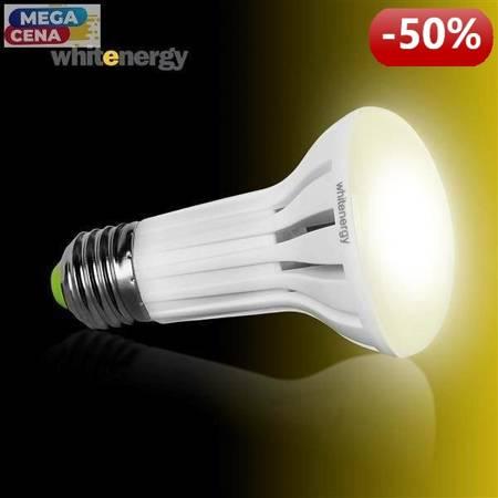 Whitenergy Żarówka LED 4W  E27 R63 SMD3014 ciepła 230V Reflektor / mleczne