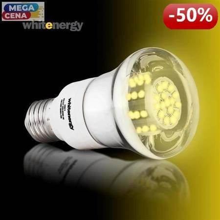 Whitenergy Żarówka LED 4W  E27 R63 SMD3528 ciepła 230V Reflektor / transparentne
