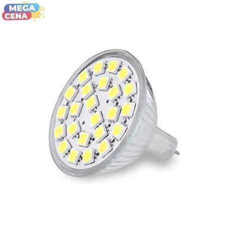 Whitenergy Źródło LED|24xSMD5050|MR16|GU5.3|3.5W|12V|ciepłe białe|bez szybki