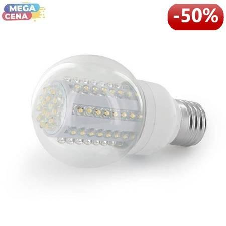 Whitenergy Źródło LED 80xDIP B60 E27 4W 230V zimne białe transparentne