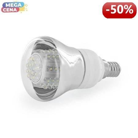 Whitenergy Źródło LED|80xDIP|R63|E14|4W|230V|zimne białe|transparentne