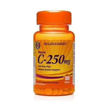 Witamina C 250 mg z Dziką Różą 100 Tabletek