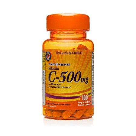 Witamina C 500 mg z Bioflawonoidami o przedłużonym uwalnianiu 100 Kapletek