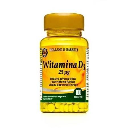 Witamina D3 100 Tabletek 25ug