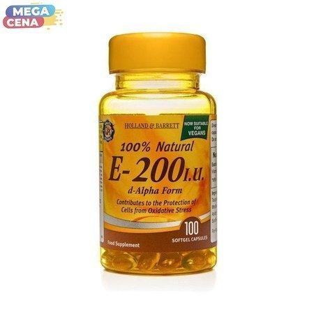 Witamina E 200 j.m. Produkt Wegański 100 Kapsułek Żelowych