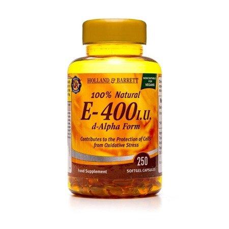Witamina E 400 j.m. 250 Kapsułek Żelowych Produkt Wegański