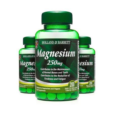 Zestaw 2+1 (Gratis) Magnez 250 mg 200 Tabletek