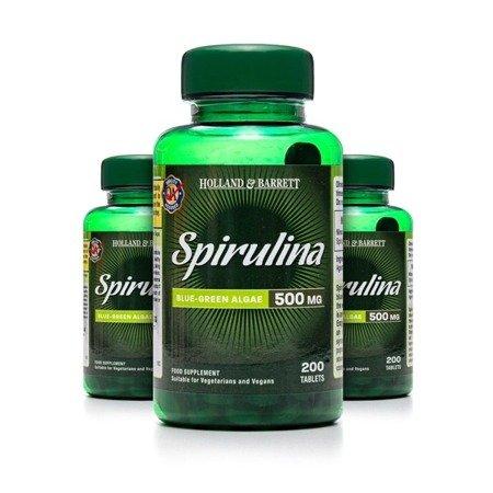 Zestaw 2+1 (Gratis) Spirulina 500 mg 200 Tabletek