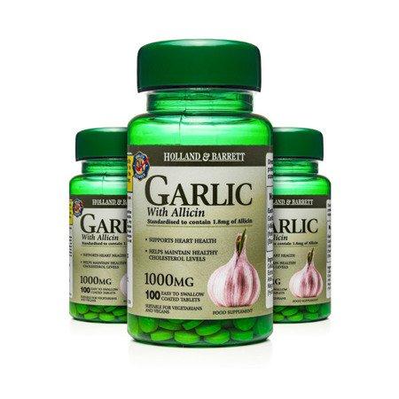 Zestaw Suplementów 2+1 (Gratis) Czosnek z Allicyną 1000 mg 100 Tabletek