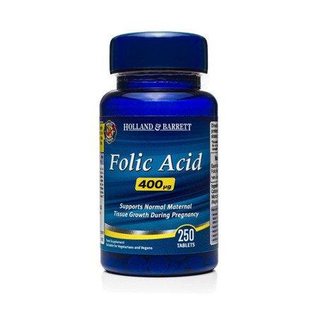 Zestaw Suplementów 2+1 (Gratis) Kwas Foliowy 400 ug 250 Tabletek