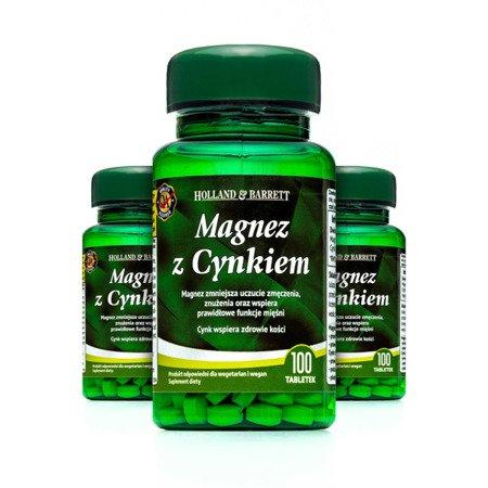 Zestaw Suplementów 2+1 (Gratis) Magnez i Cynk 100 Tabletek