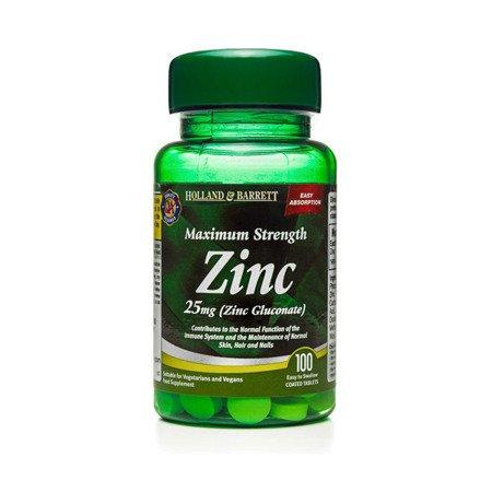 Zestaw Suplementów 2+1 (Gratis) Maksymalna Siła Cynku 25 mg 100 Tabletek