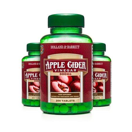 Zestaw Suplementów 2+1 (Gratis) Ocet Jabłkowy 300 mg 200 Tabletek