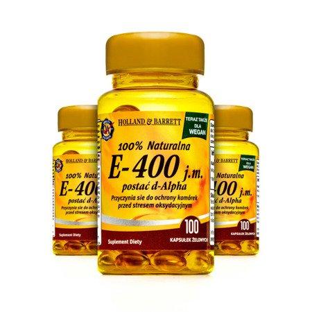 Zestaw Suplementów 2+1 (Gratis) Produkt Wegański Witamina E 400iu 100 Kapsułek Żelowych