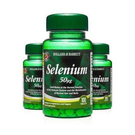 Zestaw Suplementów 2+1 (Gratis) Selen 50 ug 100 Tabletek