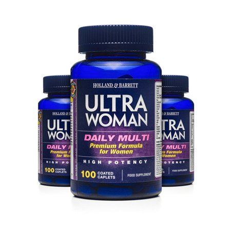 Zestaw Suplementów 2+1 (Gratis) Ultra Woman Multiwitamina dla Kobiet 100 Kapletek