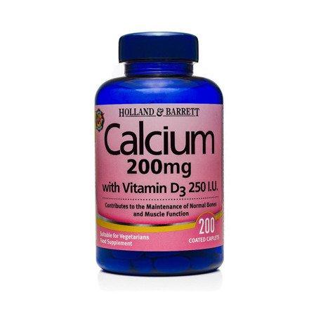Zestaw Suplementów 2+1 (Gratis) Wapń z Witaminą D3 200 mg 200 Tabletek