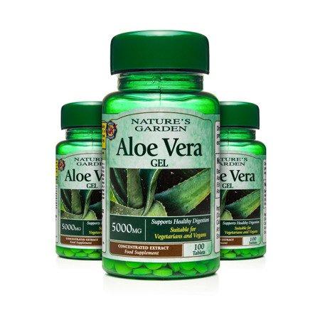 Zestaw Suplementów 2+1 (Gratis) Żel Aloesowy 5000 mg 100 Tabletek