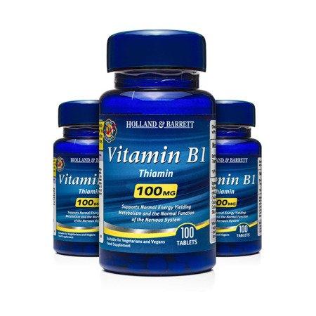 Zestaw Witamin 2+1 (Gratis) Witamina B1 100 mg 100 Tabletek