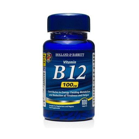 Zestaw Witamin 2+1 (Gratis) Witamina B12 100 ug 100 Tabletek