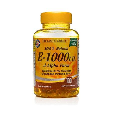 Zestaw Witamin 2+1 (Gratis) Witamina E 1000 j.m. Produkt Wegański 100 Kapsułek Żelowych